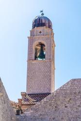 Beautiful Belltower in Dubrovnik old town, Croatia