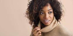 Beautiful black woman . Beauty portrait of african american woma