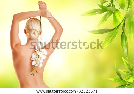 Lifestyle - Pagina 6 Stock-photo-beautiful-blond-woman-with-orchid-flower-32523571