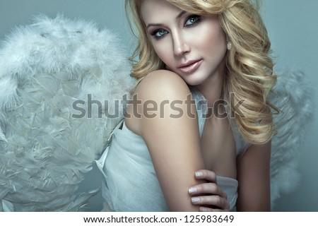 Beautiful blonde angel