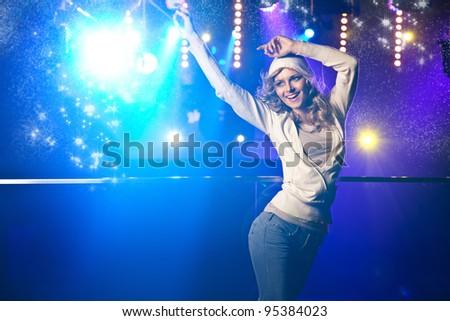 Beautiful blonde dancing