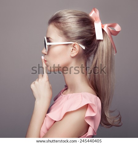 Beautiful blonde woman. Fashion portrait.