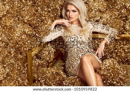 beautiful blonde woman in...