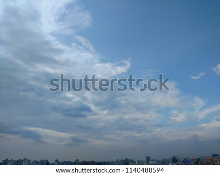 Beautiful blue and smoky sky #1140488594