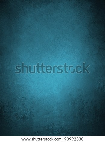 beautiful blue background or blue wallpaper illustration design with elegant dark blue vintage grunge texture and black vignette frame on border with blank space for ad or brochure template