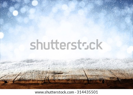 Shutterstock beautiful blue blurred background of winter and shabby table
