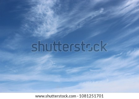 Beautiful blue cloudy sky.
