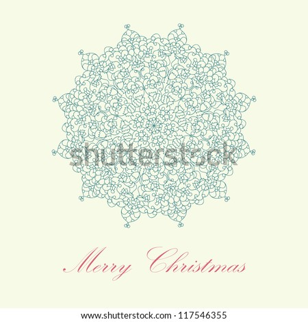 Beautiful blue colorful lace ornament for merry christmas card, background, backdrop, wallpaper, invitation, border, banner, brochure  raster