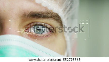 beautiful blue eye, technology, surgeon, medicine #552798565