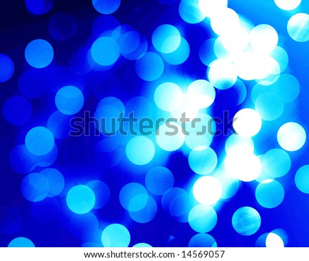 beautiful blue fibre optics on a blue background