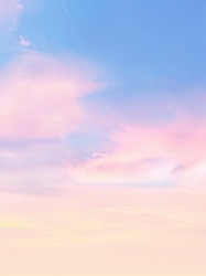 Beautiful Blue Orange Pink Afternoon Sky