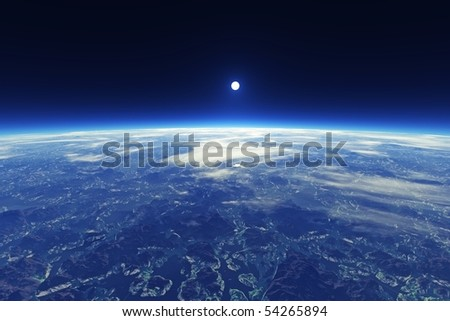 Beautiful Blue Planet View From Space (maybe Earth)