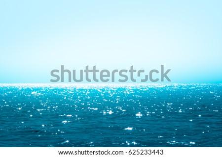 Beautiful blue sea / blue sea calm and sun-shining