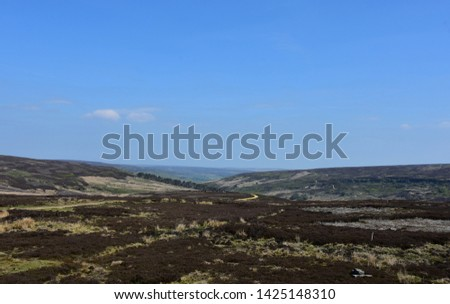 Beautiful blue skies over the boggy moorland's of Northern Yorkshire.