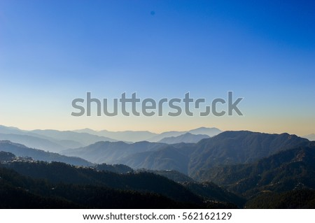 Beautiful blue sky and mountains #562162129