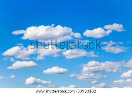 Beautiful blue sky and some clouds