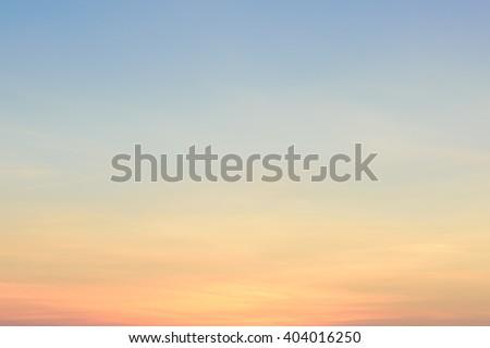 beautiful blue sky at dawn
