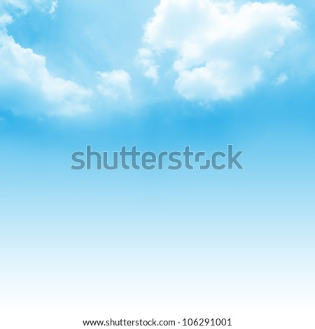 Shutterstock Beautiful Blue Sky Background Template With Some Space for Input Text Message Below Isolated on Blue