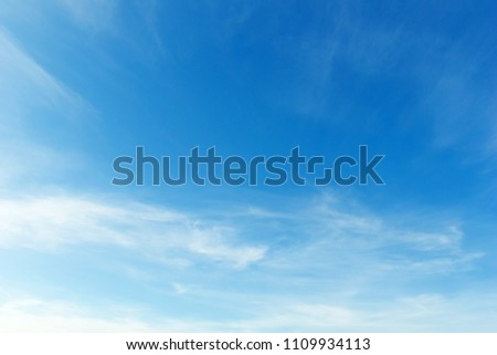 beautiful blue sky background with clouds. #1109934113
