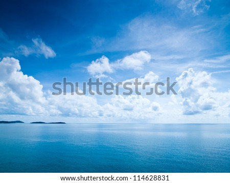 Beautiful blue sky sea view #114628831
