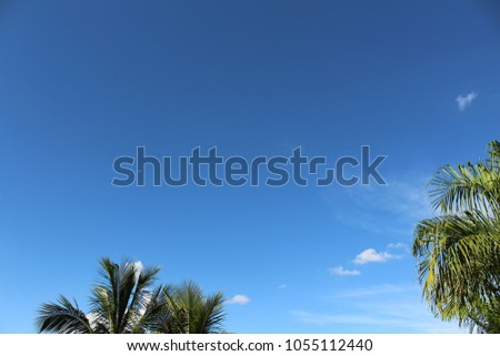 Stock Photo Beautiful blue sky view from a small city in the South Hemisphere