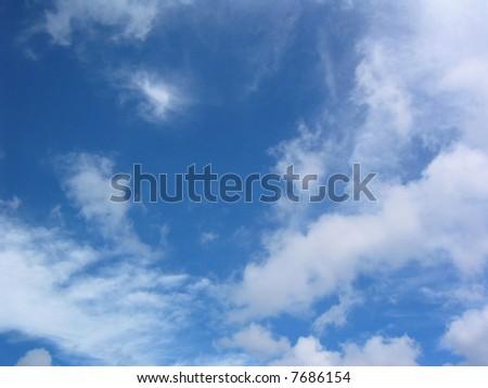 beautiful blue sky & white cloud