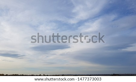 beautiful blue sky with cirrus clouds #1477373003