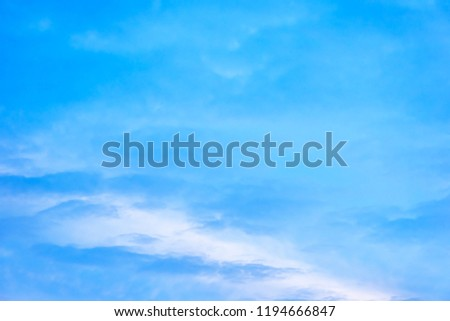 Beautiful blue sky with cloud formation background. #1194666847