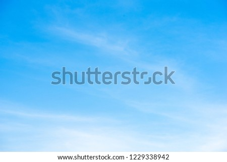 Beautiful blue sky with cloud formation background. #1229338942