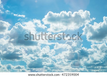 beautiful blue sky with clouds background.Sky clouds.Sky with clouds weather nature cloud blue #472359004