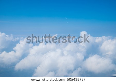 beautiful blue sky with clouds background.Sky clouds.Sky with clouds weather nature cloud blue #505438957