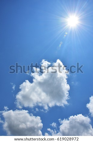 beautiful blue sky with clouds background.Sky clouds.Sky with clouds weather nature cloud blue #619028972