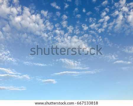 beautiful blue sky with clouds background.Sky clouds.Sky with clouds weather nature cloud blue. #667133818