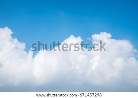 beautiful blue sky with clouds background.Sky clouds.Sky with clouds weather nature cloud blue #671457298