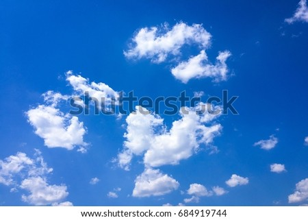 Beautiful blue sky with clouds background.Sky clouds.Sky with clouds weather nature cloud blue #684919744