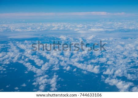 Beautiful blue sky with clouds background.Sky clouds.Sky with clouds weather nature cloud blue #744633106