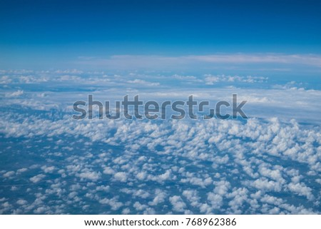 beautiful blue sky with clouds background.Sky clouds.Sky with clouds weather nature cloud blue #768962386