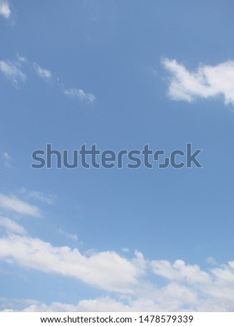 Beautiful blue sky with sunbeams and clouds. Sun rays. #1478579339