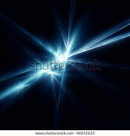 Beautiful blue star. Fractal