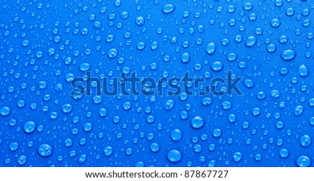 Beautiful blue water drops background #87867727