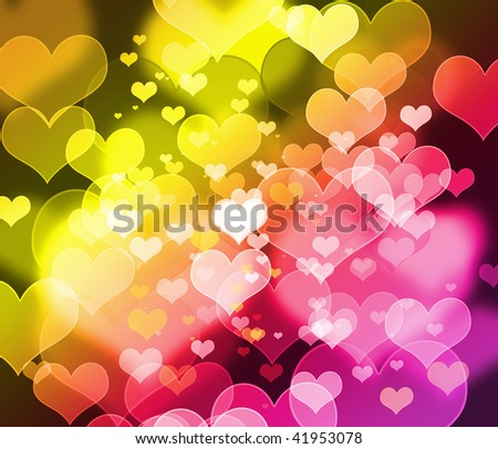 Beautiful blur heart style background