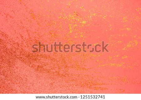 Beautiful blurred glitter coral background. Holiday decoration concept. Place for text. Color of the year 2019. #1251532741