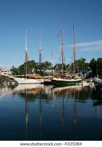 beautiful boat harbor in Camden, Maine