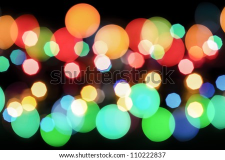 Beautiful bokeh lights
