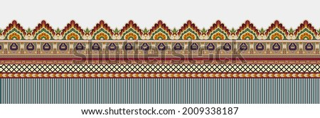 beautiful border design with flowers and ornaments, design in vintage style