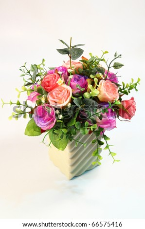 beautiful bouquet in white vase