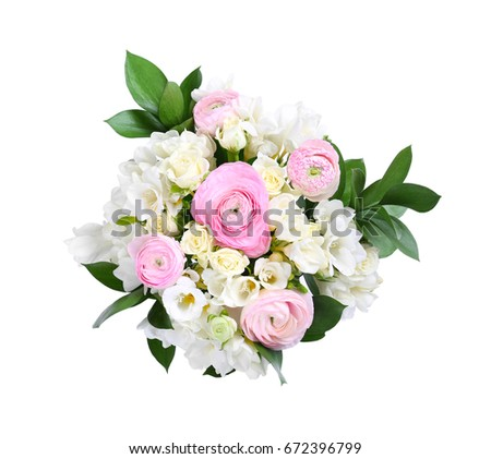 Beautiful bouquet with freesia flowers on white background ez canvas beautiful bouquet with freesia flowers on white background mightylinksfo