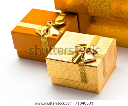 Beautiful boxes for gifts on a white background
