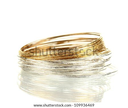 Beautiful bracelet isolated on white background