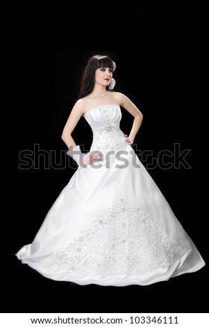 beautiful bride in a wedding dress